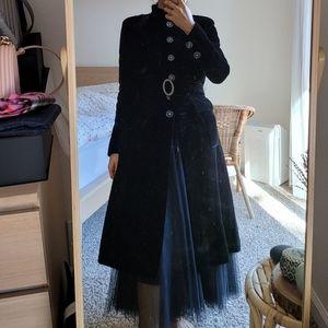2018 CHANEL velvet black coat